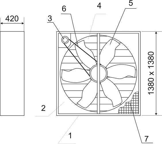 Вентилятор осевой ВО-12,5